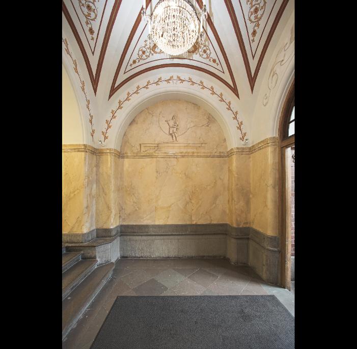 Illusionsmålning/marmorering i entré