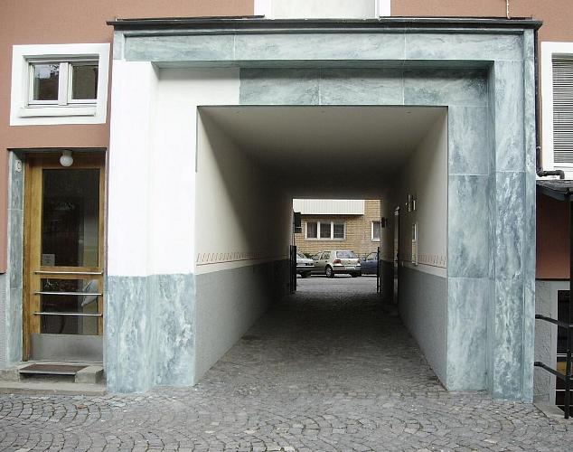 Rådmansgatan – kolmårdsmarmorering fasader